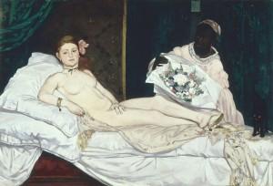 L'Olympia, Edouard Manet, 1863, huile sur toile, 130,5x190 cm, musée d'Orsay, Paris