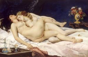 Le Sommeil ou Les Dormeuses, Courbet, 1866, huile sur toile, 135x200 cm, Petit Palais, Paris