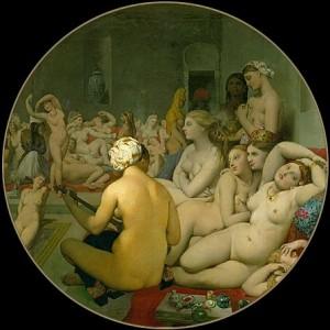Le Bain turc, Jean-Auguste-Dominique Igres, 1862, huile sur bois, 108x108 cm, musée du Louvre, Paris