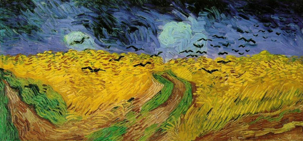 Vincent Van Gogh, Champ de blé aux corbeaux, 1890, huile sur toile, 50,5x100,5 cm, Amsterdam, Van Gogh Museum.