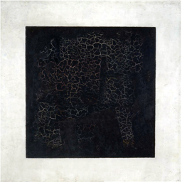 Malévitch, Carré noir sur fond blanc,1915, huile sur toile, 79,5 cm × 79,5 cm, Moscou, Galerie Tretiakov