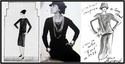 Chanel, La robe Ford, Vogue 1er Nov. 1926 / Coco Chanel / dessin de Karl Lagerfeld