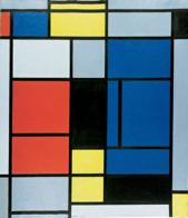 Mondrian, Tableau n° I, 1921-25, huile sur toile, 75,5 x 65,5 cm, Bâle