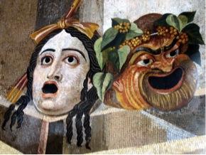 Masques grecs de la tragédie et de la comédie