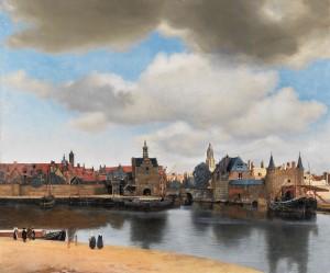 Johannes VERMEER, Gezicht op Delft (Vue de Delft), vers 1660-1661, huile sur toile, 96,5x115,7cm, La Haye, Mauritshuis