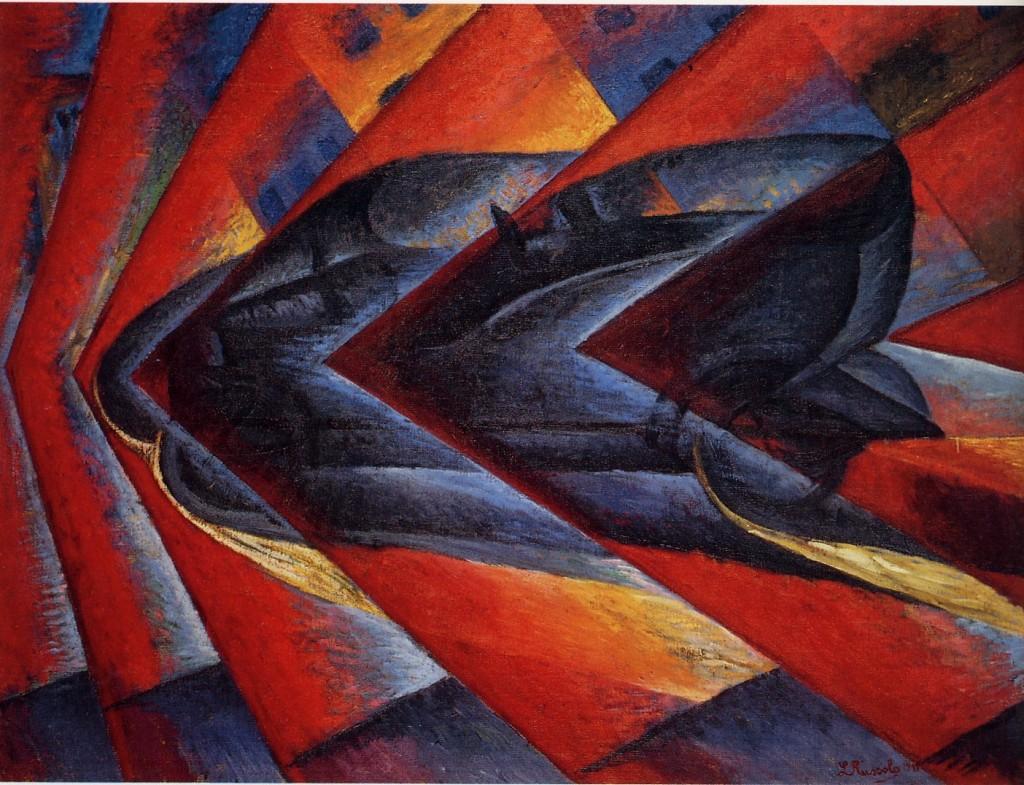 Russolo, dynamisme d'une automobile, 1912