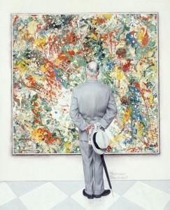 Norman Rockwell, The Connoisseur, 1961, huile sur toile, collection privée