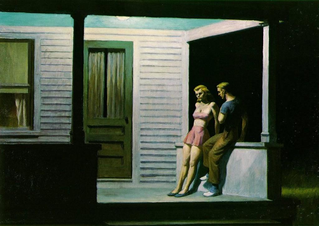 Edward Hopper, Summer Evening, 1947, huile sur toile, 74 x 111,8 cm, collection particulière