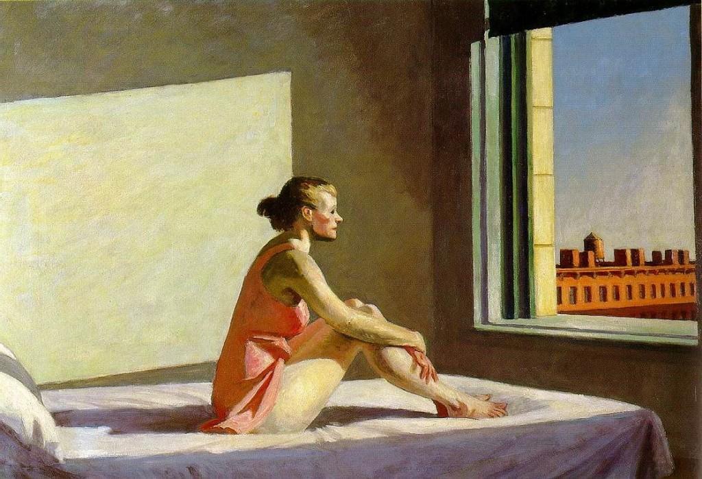 Edward Hopper, Morning Sun, 1952, huile sur toile, 71,4 x 101,9 cm, Columbus (Ohio), Columbus Museum of Art