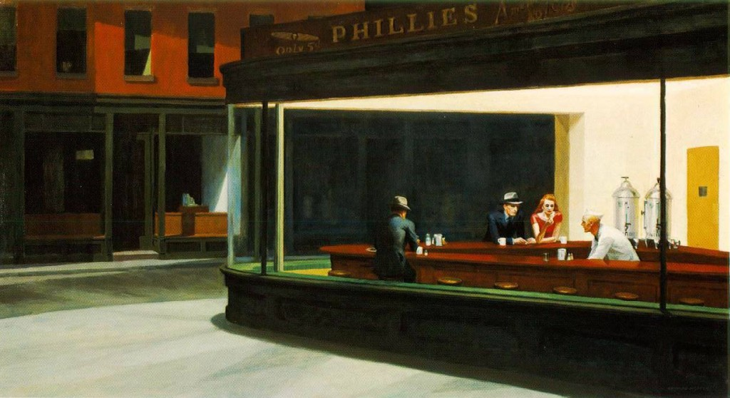 Edward Hopper, Nighthawks, 1942, huile sur toile, 84,1 x 152,4 cm, Chicago, Art Institute of Chicago