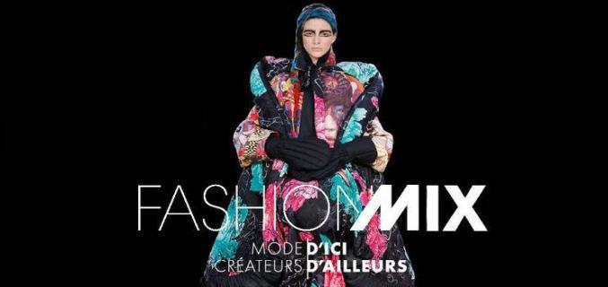 Affiche de l'exposition Fashion Mix à Paris du