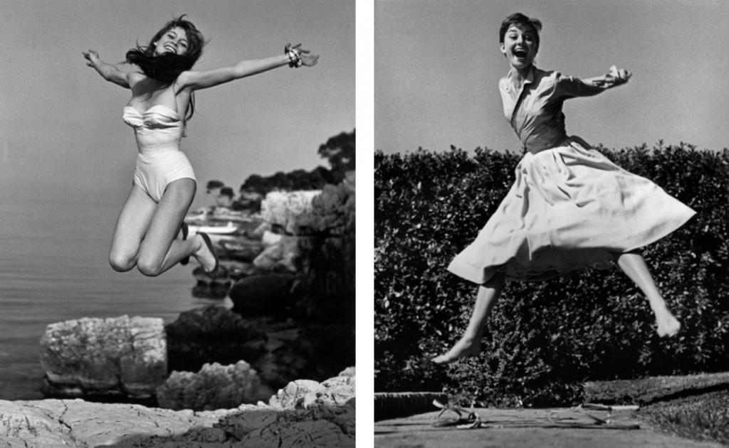 À gauche : Philippe Halsman, Brigitte Bardot À droite : Philippe Halsman, Audrey Hepburn © 2015 Philippe Halsman Archive Source : http://philippehalsman.com/?image=jumps