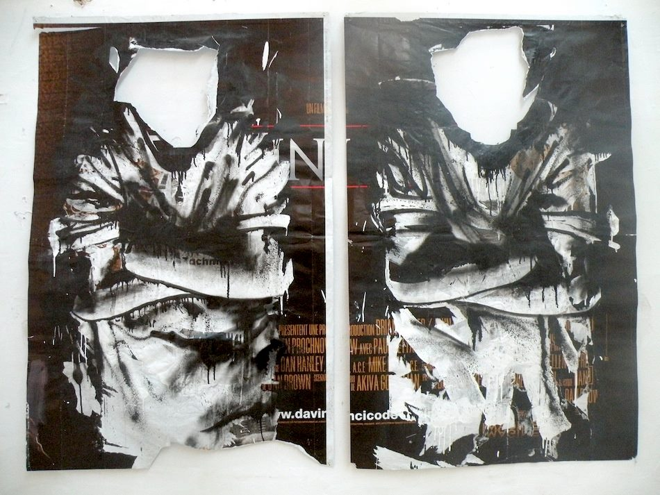 Kouka, sans titre, acrylique et aérosol sur poster, 150x200 cm, 2010, exposition