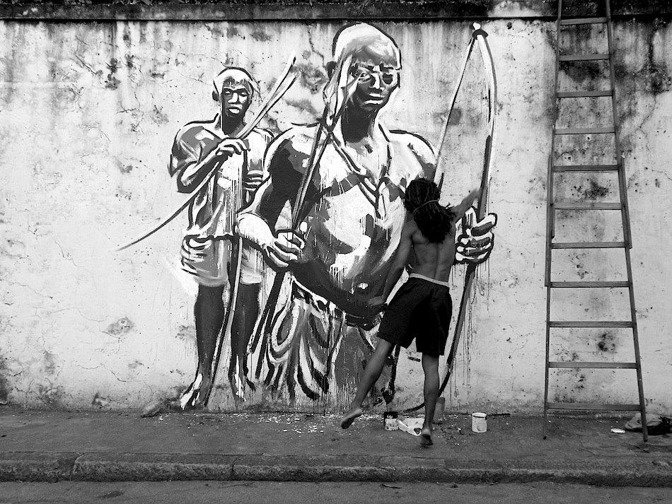 Kouka, guerrier bantu à Rio de Janeiro (Brésil), Santa Teresa, © Kouka