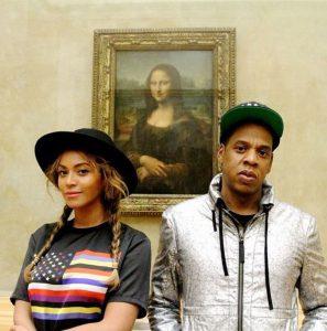 Selfie de Beyoncé et Jay Z devant Mona Lisa