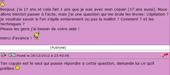 Capture d'écran Forumado.fr