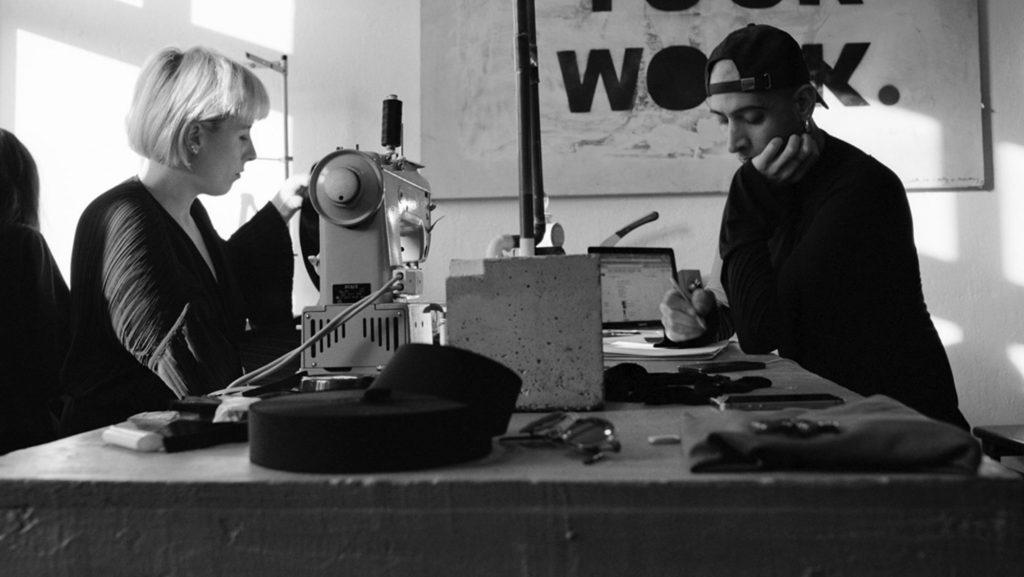 Fanny Lawaetz and Idan Gilony in the studio. Photo : Søren Drastrup
