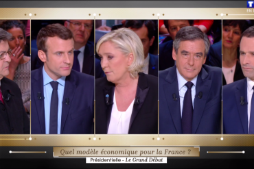 Jean Luc Mélenchon, Emmanuel Macron, Marine Le Pen, François Fillon et Benoit Hamon ont débattu sur TF1