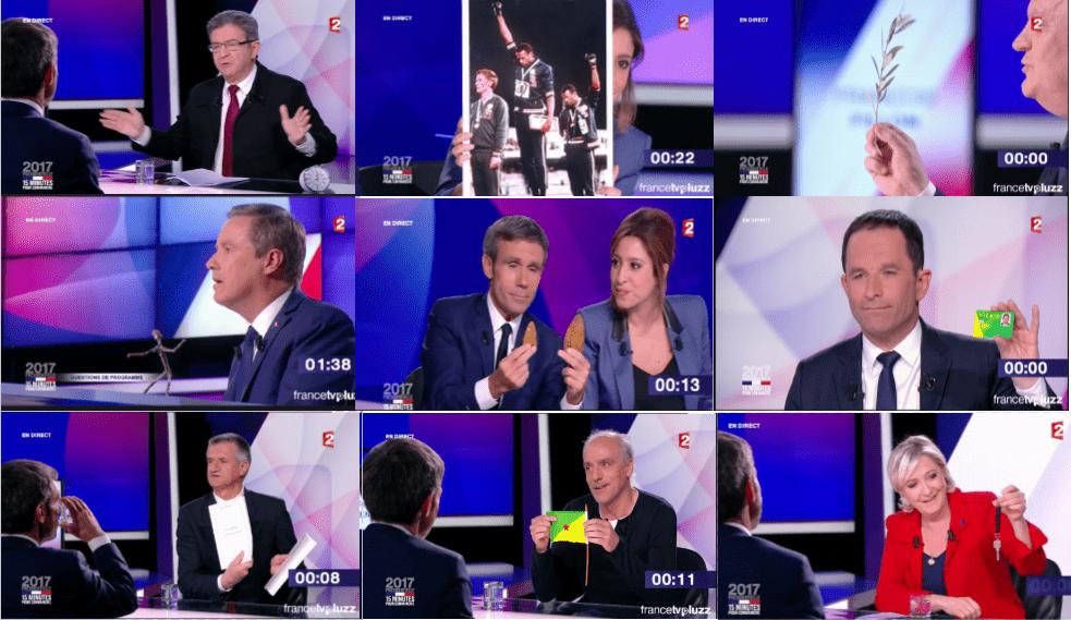 Les objets amenés par les candidats sur France 2