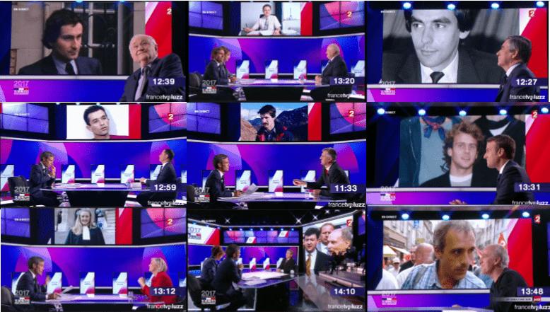 Les photos malaises : De gauche à droite et de haut en bas: Cheminade, Asselineau, Fillon, Hamon, Lassalle, Macron, Le Pen, Mélenchon, Poutou