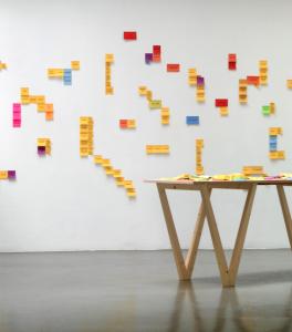 Mathilde Chenin, Histoires des ensembles, 2002-2016, Installation ©Guillaume Robert / Production La BF15, Lyon, 2016
