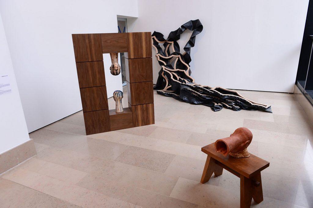 Ferdinand Kokou Makouvia, installation 62e Salon de Montrouge 2017 ©Starface Frederic Garcia