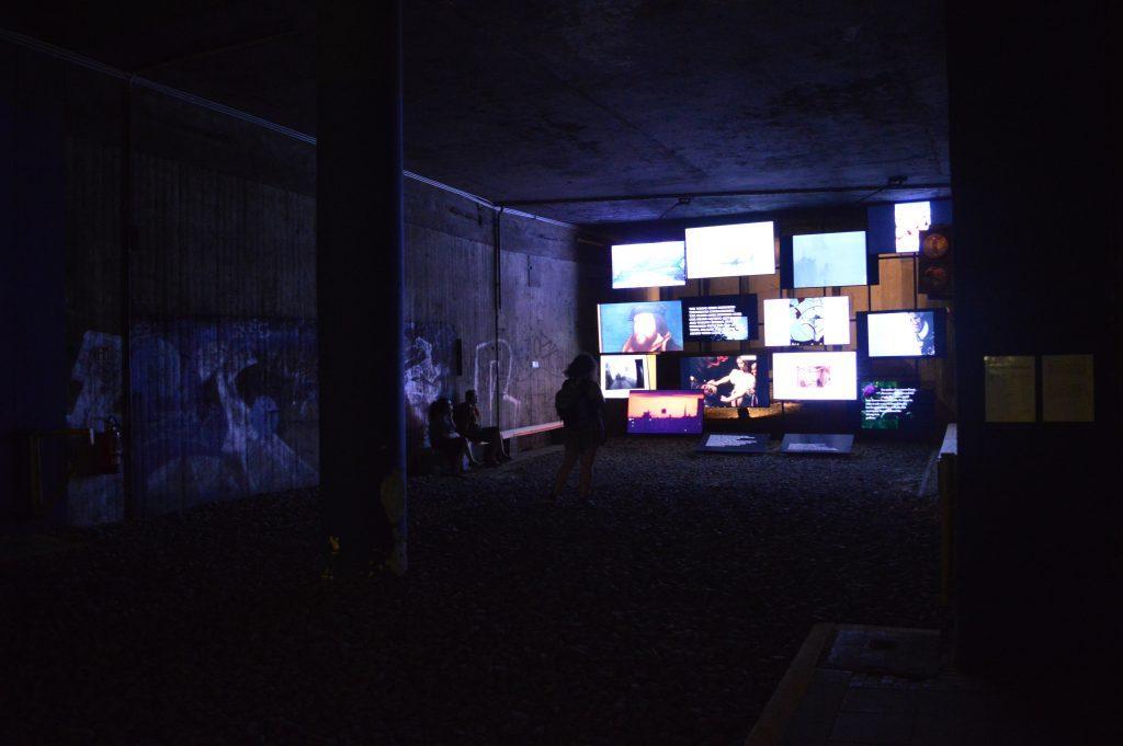 Michel Auder, The Course of Empire, 2017, installation vidéo numérique, KulturBahnhof, Kassel, documenta 14, photo : Mylène Palluel