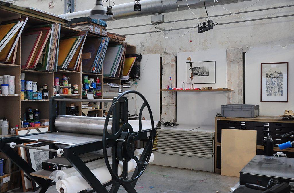 Atelier de gravure, Villa Belleville ©ManifestoXXI
