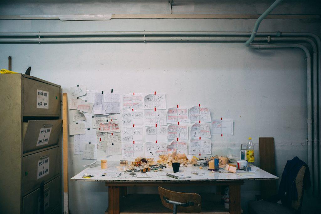 Atelier Résidence temporaire de Josselin Beliah, Shakirail ©Mathis D'Angelo