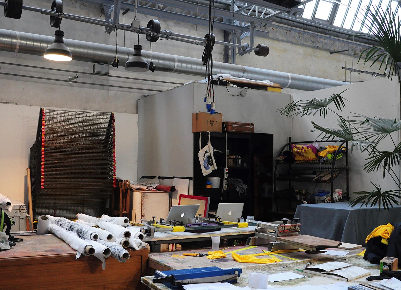 Atelier de sérigraphie, Villa Belleville ©ManifestoXXI