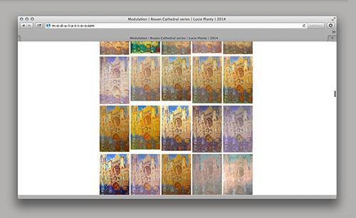 Modulation, 2014, site internet ©Lucie Planty