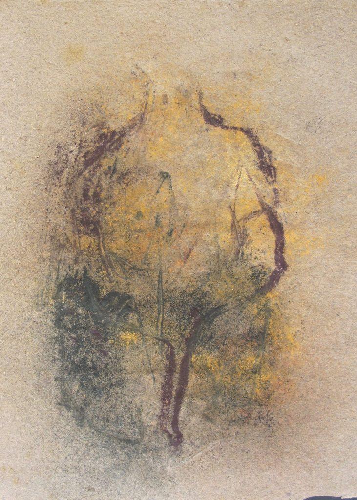 Pierre Zanzucchi, «Trace et Lumière des Simples», poussière végétale sur papier d'origine © Pierre Zanzucchi