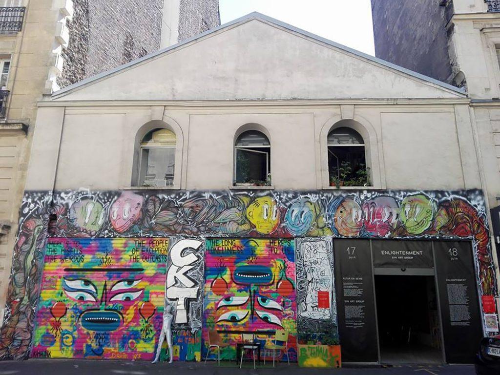 Façade de La Capela, par KASHINK, les enfants du quartier, et Samy Samy