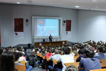 Benoit Hamon en visite à Sciences Po Rennes