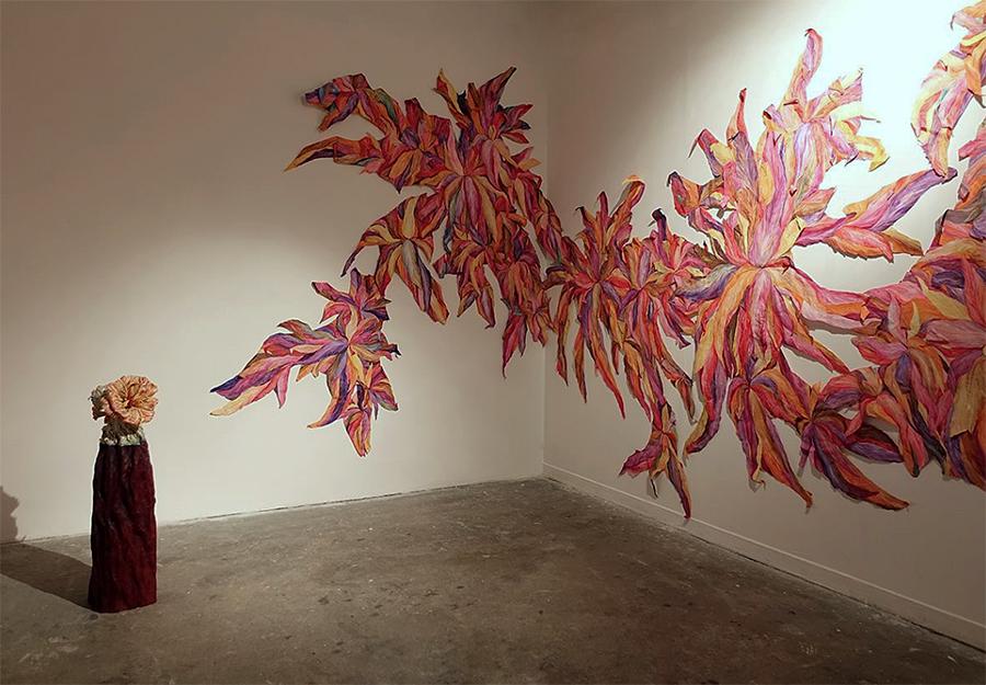 Le sarlac et Jungle ©Anne Sophie Yacono, vue de l'exposition Color Pit, le 6b