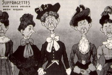 Caricature anti-féministe, 1910