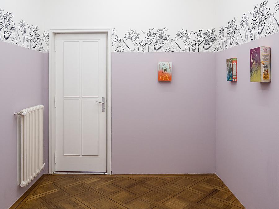 Lauren Coullard, Break(Feast), exhibition view, solo show, Silicon Malley, 2017