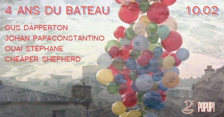 Affiche 4 ans du Bateau