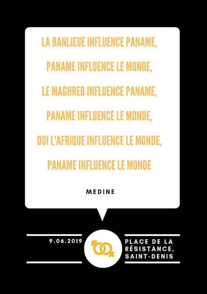 LA BANLIEUE INFLUENCE PANAM Saint-denis Fiertés manifesto21